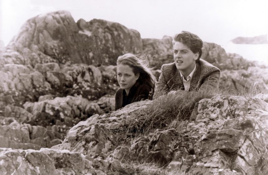Jenny Seagrove and Peter Capaldi in Bill Forsyth's Local Hero.