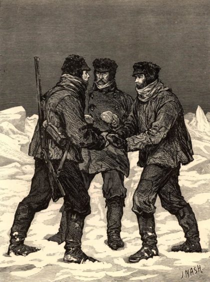 McClure's Arctic expedition in HMS 'Investigator' 1850-1854 when he was credited with the discovery of the Northwest Passage.