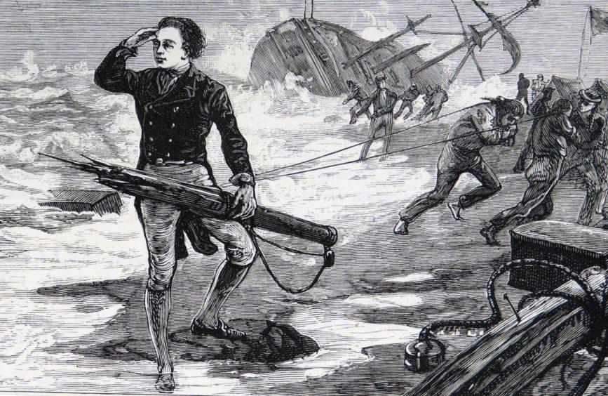 A drawing of John Franklin.