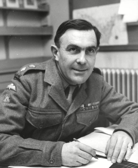 Lt. Col. Niall Baird, the first commanding officer of the amalgamated Queens Own Highlanders