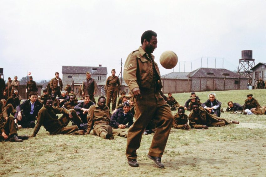 The Brazilian superstar Pele was 40 when he took part in Escape to Victory.