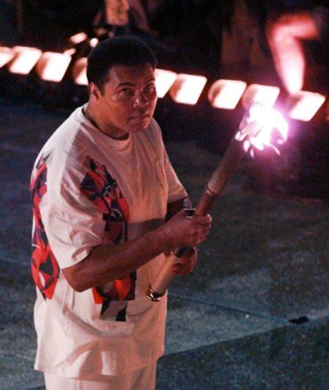 Muhammad Ali lit the torch at the 1996 Olympics in Atlanta.