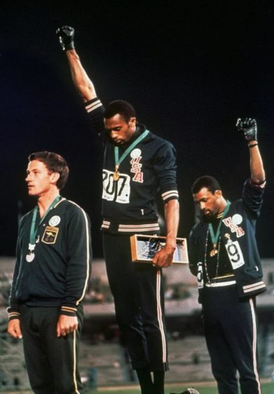 Tommie Smith and John Carlos' black power protest at the 1968 Games.