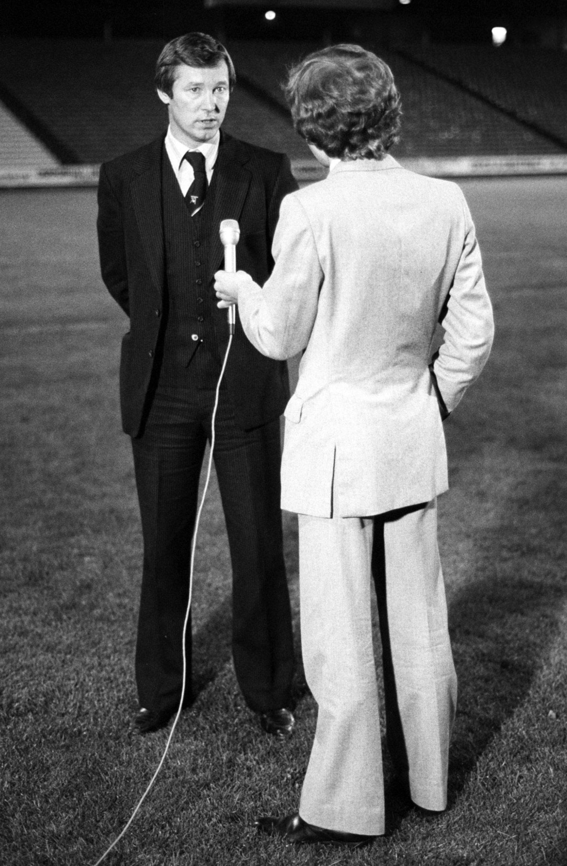 Aberdeen manager Alex Ferguson is interviewed about tackling Ipswich in 1981.