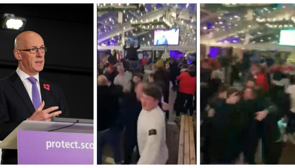The scenes at The Draft Project after Scotland's European Championship were addressed by Deputy First Minister John Swinney.