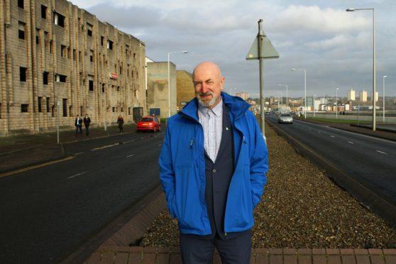 Councillor Neil Crooks beside the Esplanade car park in Kirkcaldy town centre