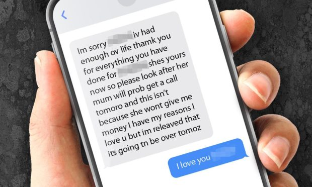 The woman shared a text exchange with her loved one