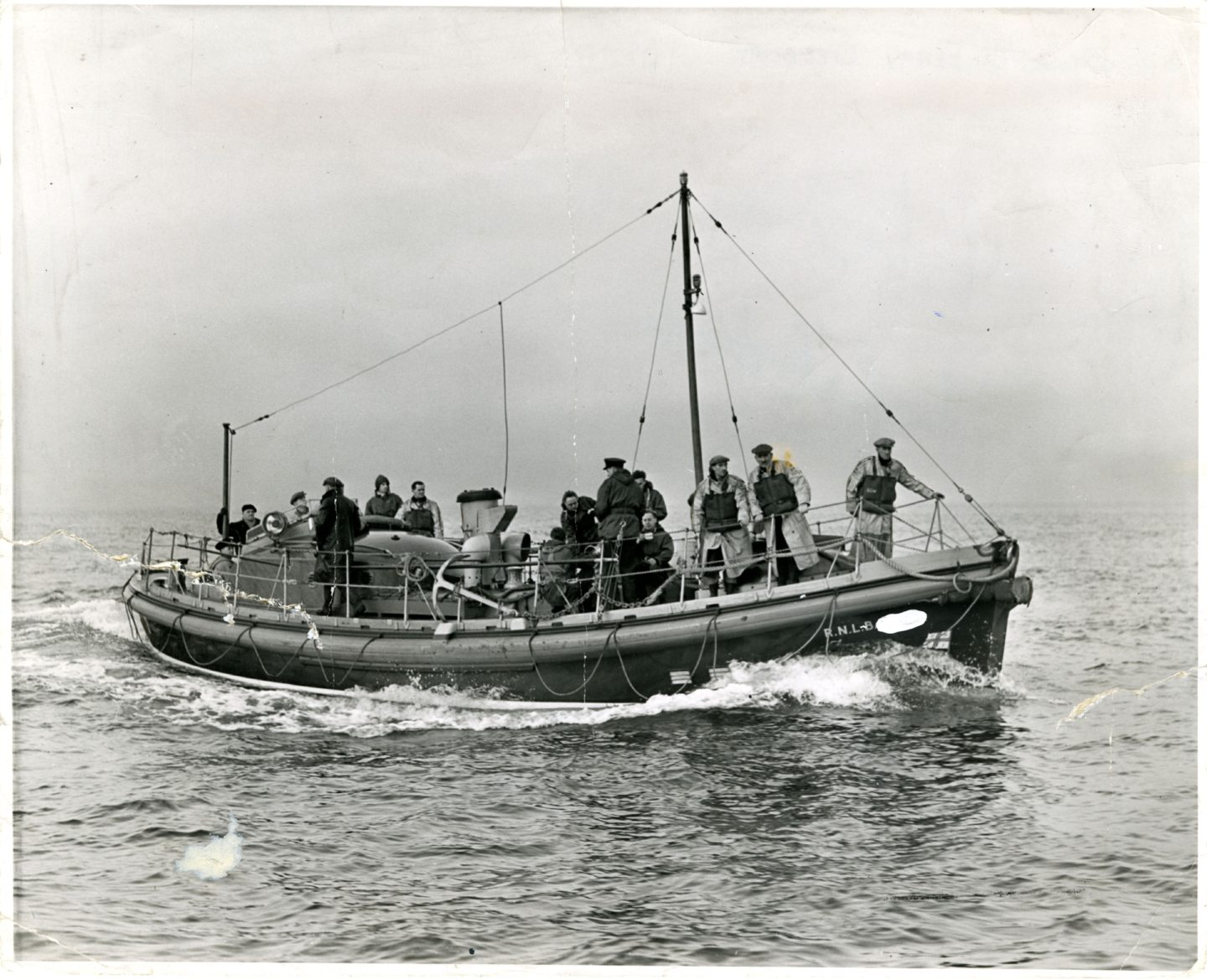 Broughty Ferry Lifeboat Mona in September 1956.