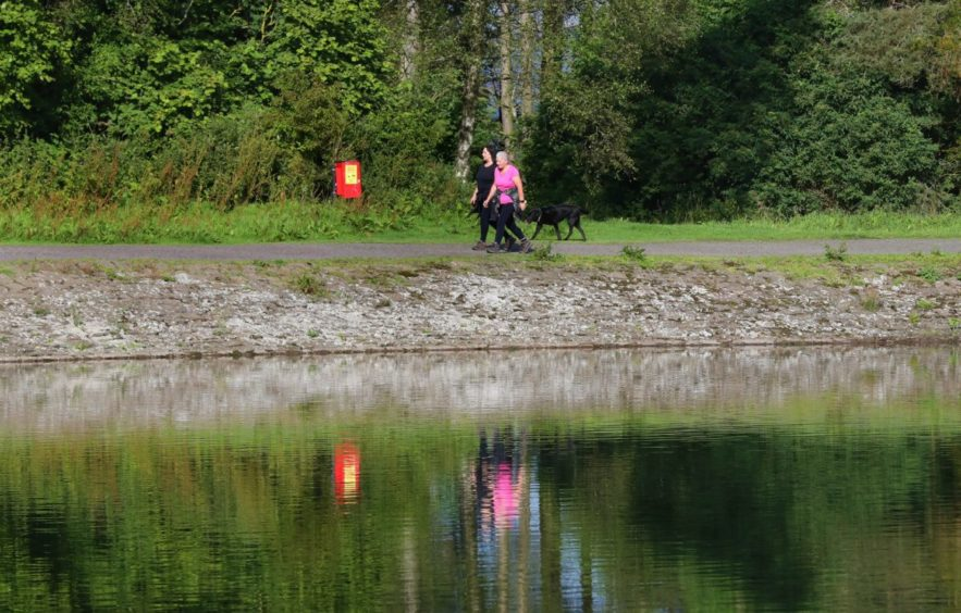 Dog walkers are being urged to keep their pets away from the water.