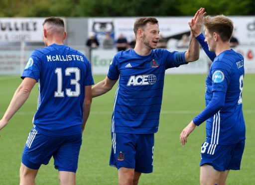 Rory McAllister and Mitch Megginson combined well for Cove Rangers last weekend.