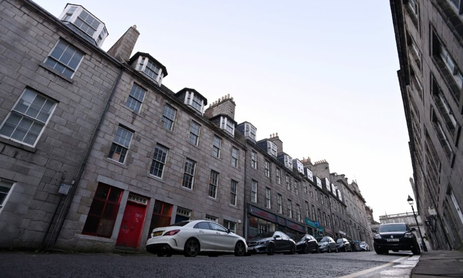 Urgent repairs were ordered at 28-32 Marischal Street, Provost Young's House, last month.
