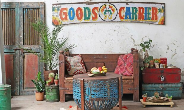 Vintage furniture sourced by Scaramanga.