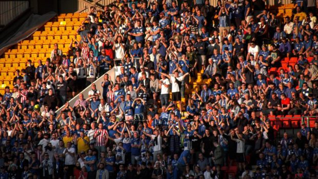 St Johnstone packed out McDiarmid Park for the LASK game.