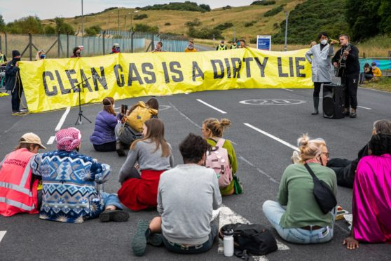 Mossmorran climate protest