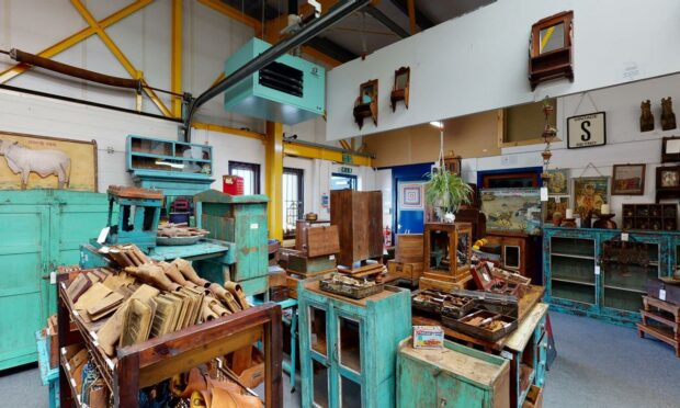 Inside of the Scaramanga shop in Cupar.