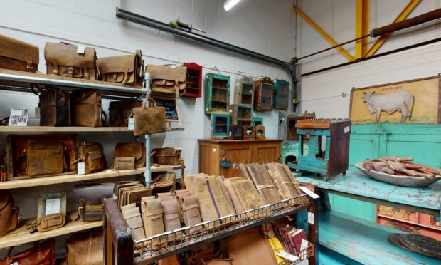 The inside of the Scaramanga shop in Cupar.