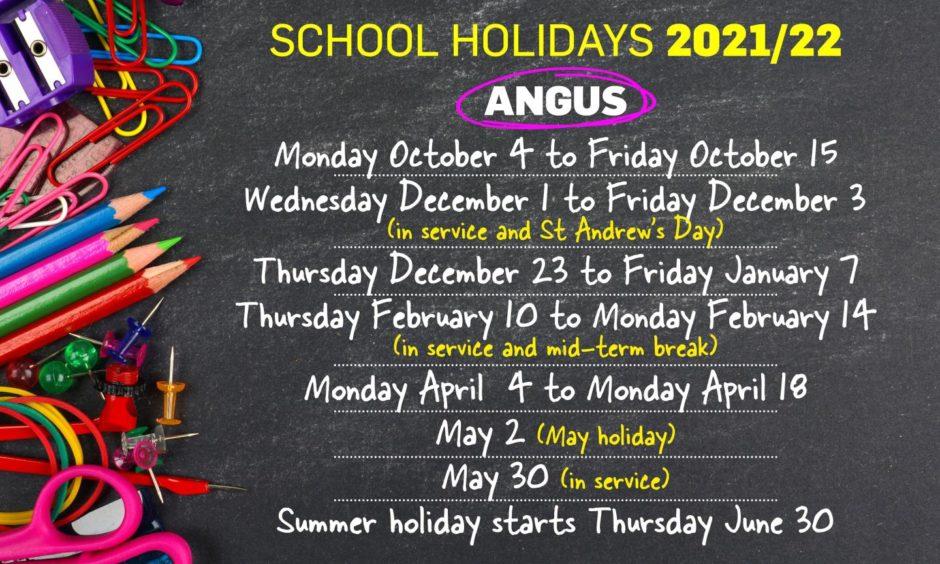 Angus school holidays 2021/2022