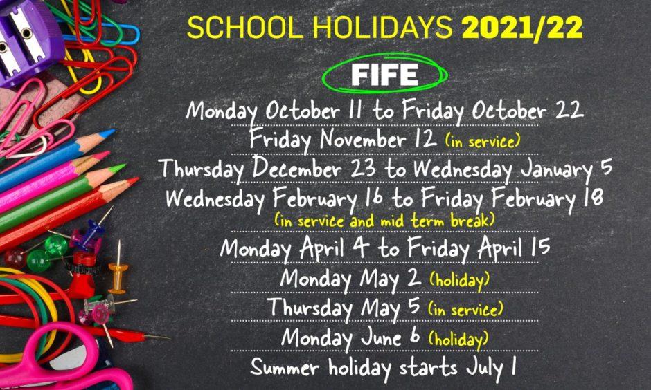 Fife School holidays 2021/2022