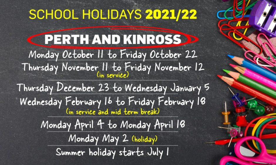Perth and Kinross School holidays 2021/2022