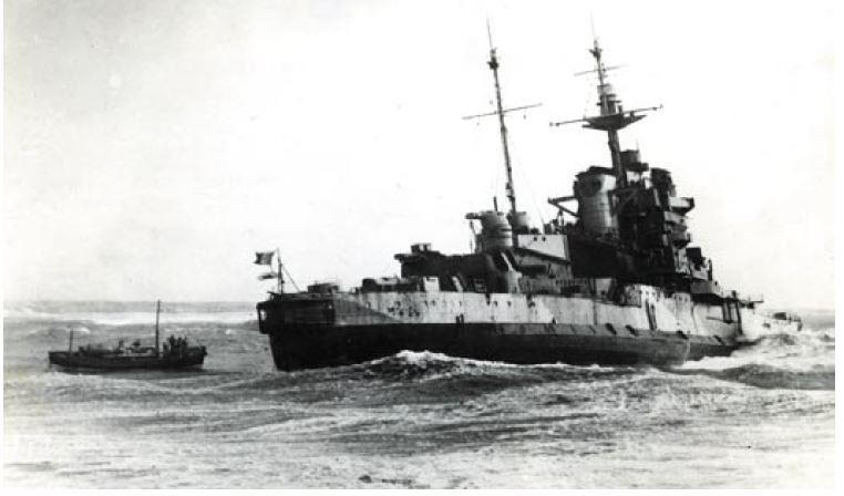 The dramatic rescue of the HMS Warspite's crew in April 1947.