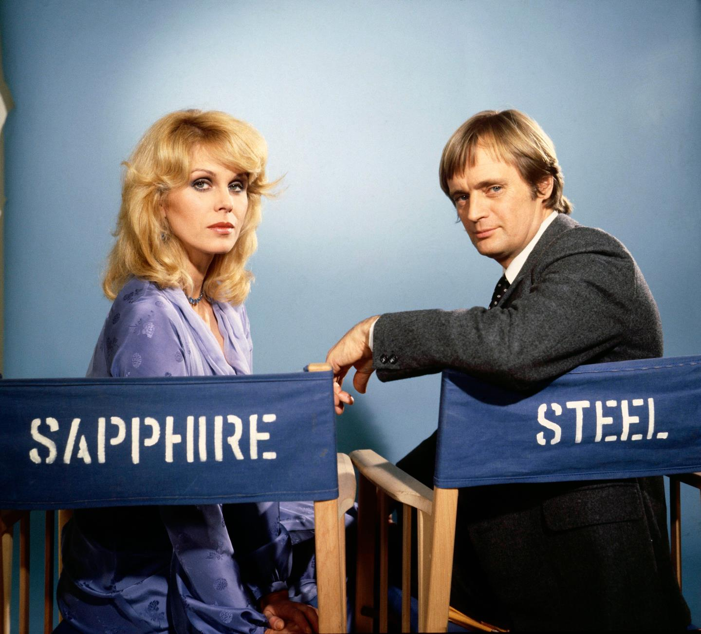 Joanna Lumley as Sapphire and David McCallum as Steel in the popular ITV series.