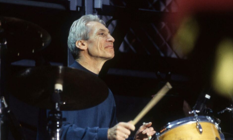 The legendary Charlie Watts pictured in 1990.