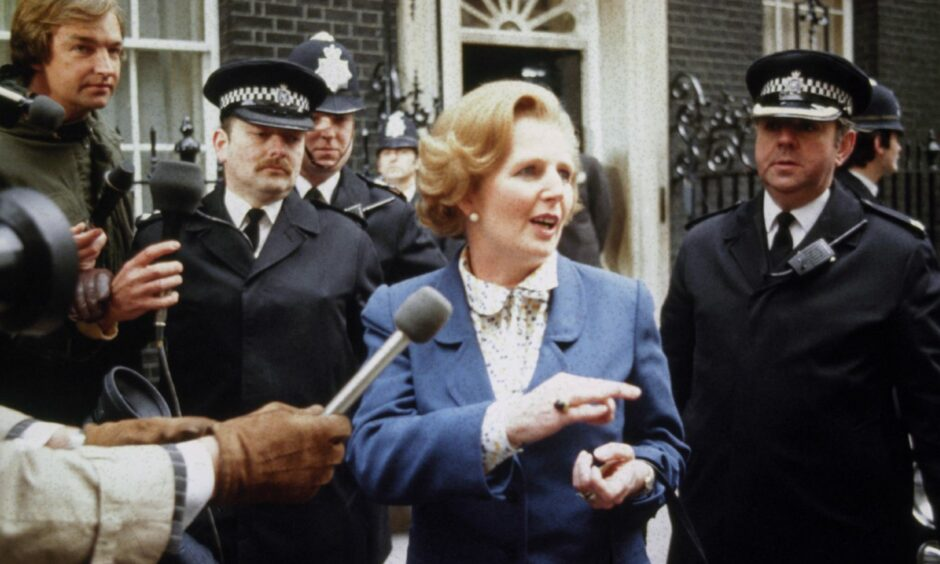 Margaret Thatcher arrives in Downing Street to take up office following the Conservative victory in the 1979 General Election.