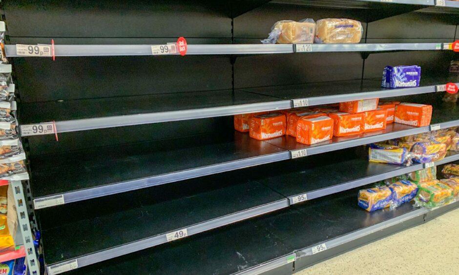 Some shops have struggled to fill shelves.