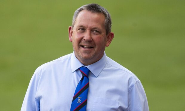 Caley Thistle manager Billy Dodds.