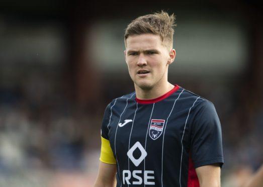 Ross County midfielder Blair Spittal scored twice against Hearts.