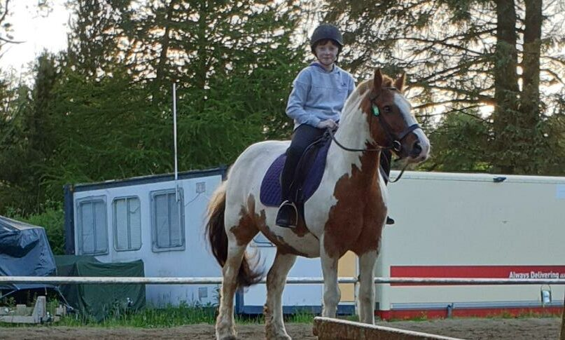 Amy has been enjoying horse riding