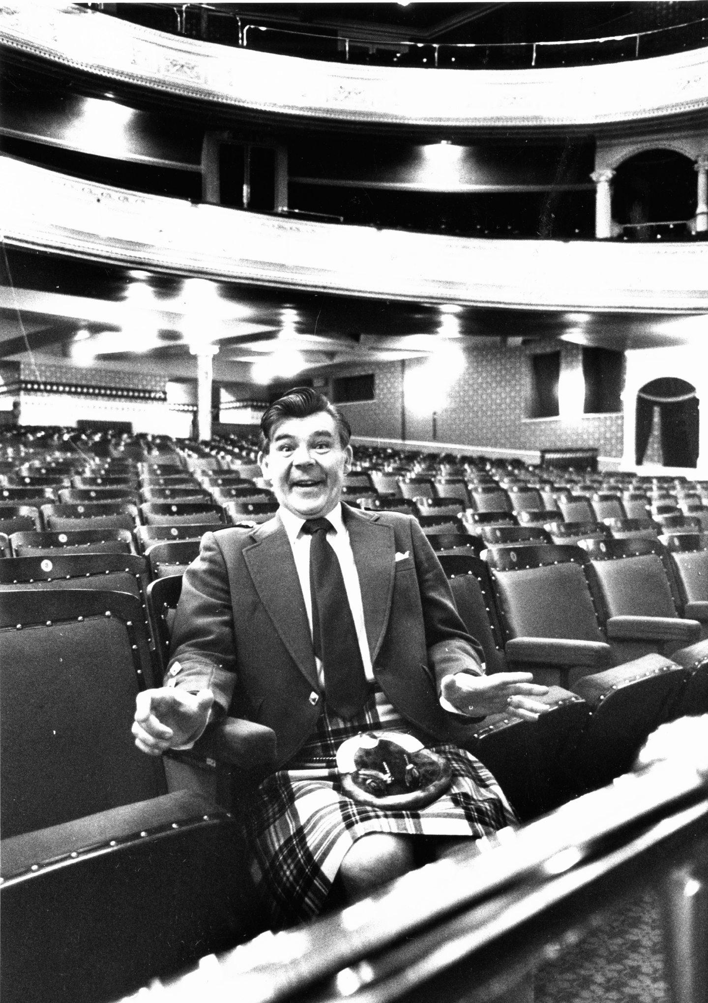 Music hall legend Andy Stewart.