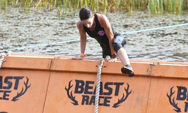 Participant in Beast Race Banchory