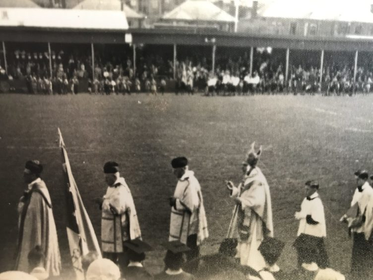 A St Margaret's Pilgrimage event at East End Park in the early 60s.