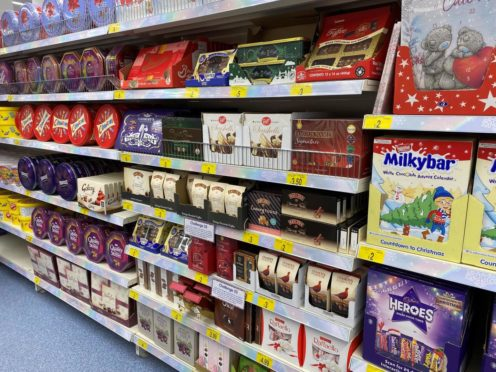 Christmas aisles are brimming in B&M - at the start of September.