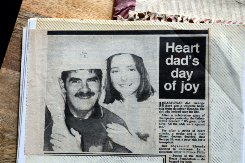 George and Rhonda in a newspaper clipping 35 years ago.