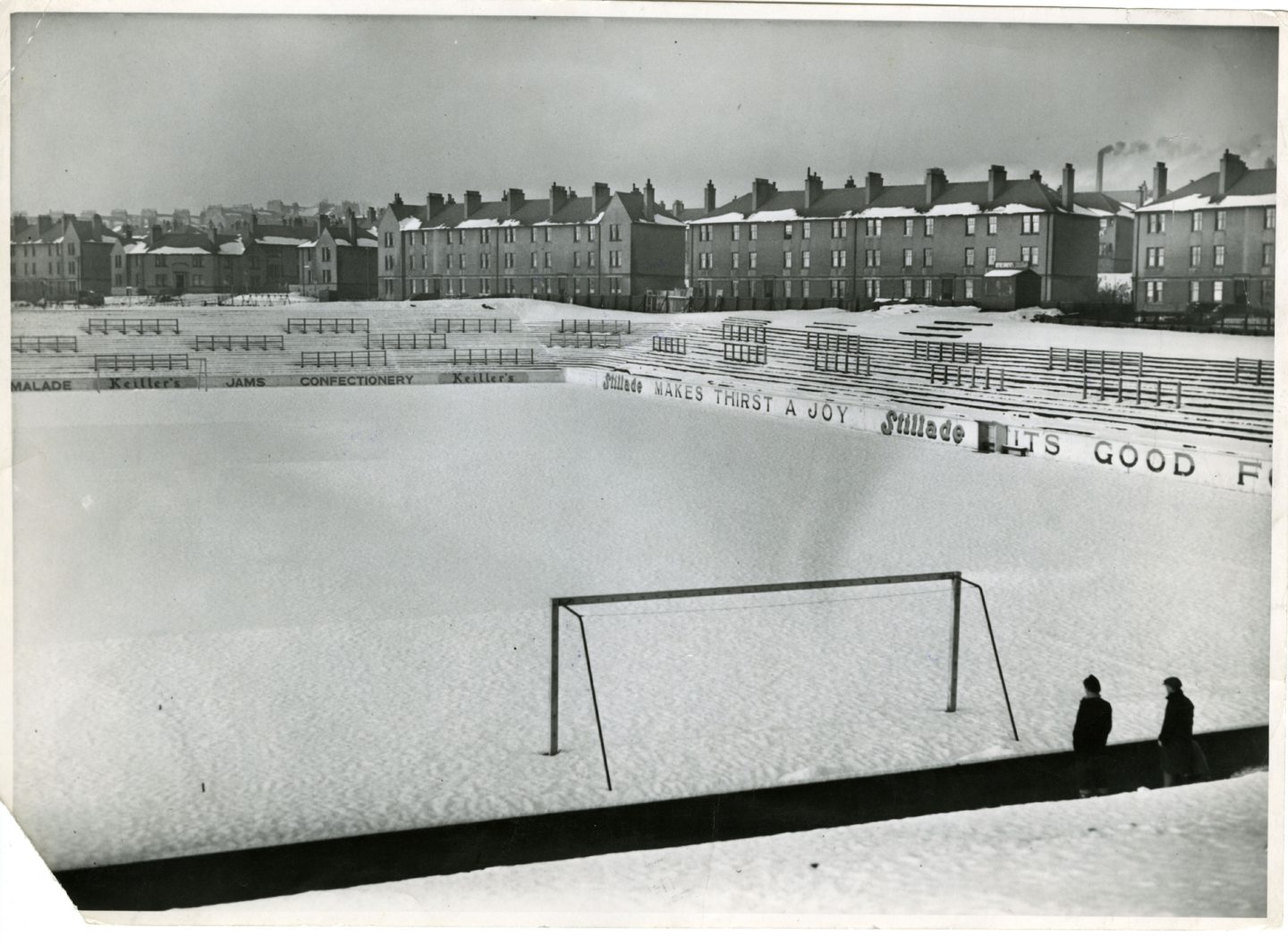 Tannadice Park covered in snow in January 1951.