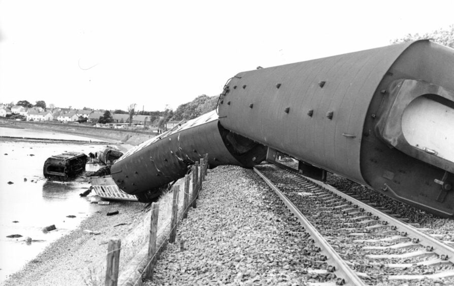 The Invergowrie rail crash happened on October 22 1979.