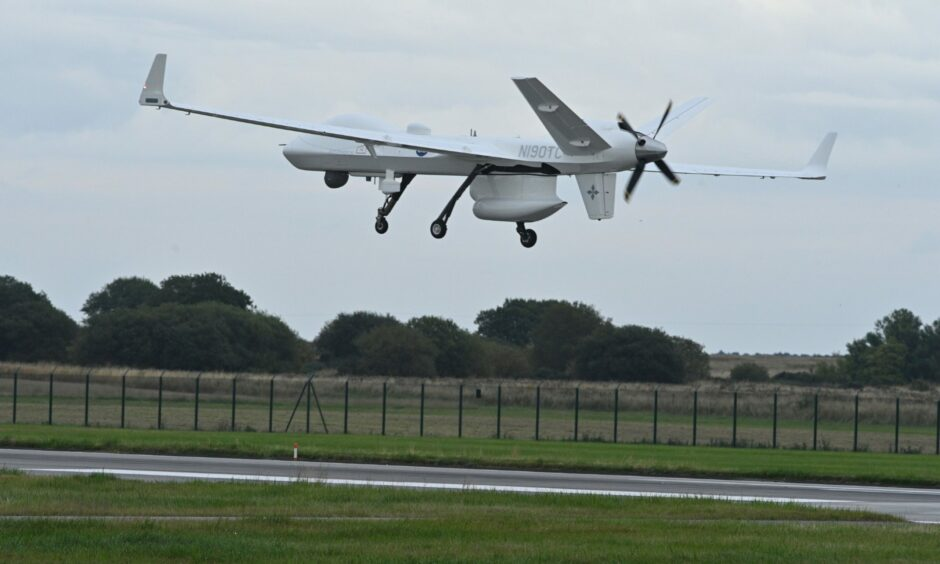 Protector in operation at RAF Lossiemouth. Picture by Jason Hedges/DCT Media.