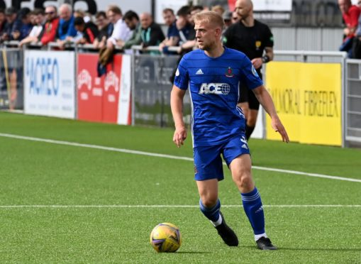 Cove Rangers defender Harry Milne.