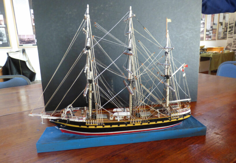 A model of the emigrant ship Annie Jane. Supplied by The Church of Scotland/PA Wire.