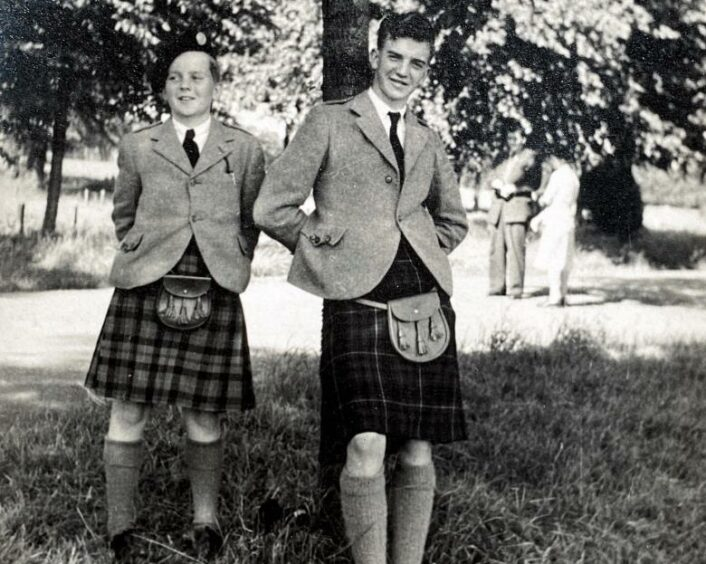 Ken Farquharson, right, and his brother Hugh.