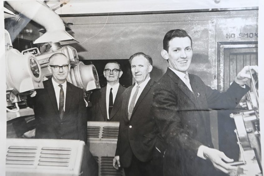Charles Crawford, third from left, was a cinema projectionist in the north east for 50 years.