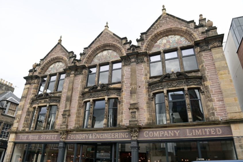 The former AI Welders building on Academy Street, Inverness with its classic Alexander Ross style and detailing. Picture by Sandy McCook.