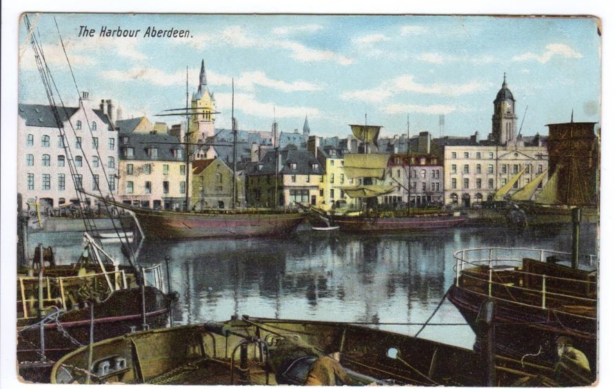 Aberdeen Harbour was a thriving port in 1914.