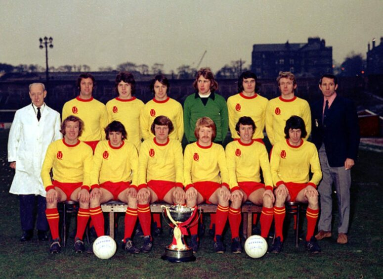 The Partick Thistle side that beat Celtic in the 1971 League Cup final.