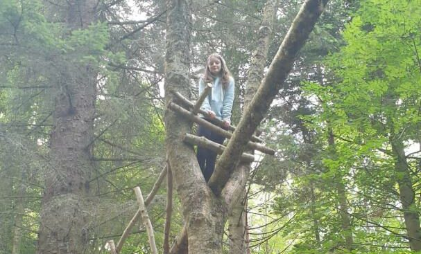 Amy hit the heights with a treetop challenge.