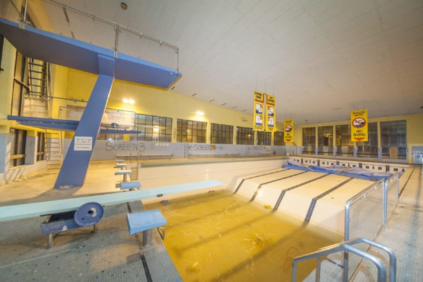The old Montrose pool before work on the Playhouse conversion began.