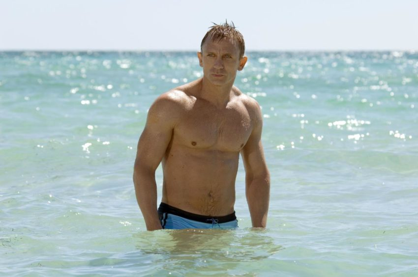 Daniel Craig in a famous scene from Casino Royale.