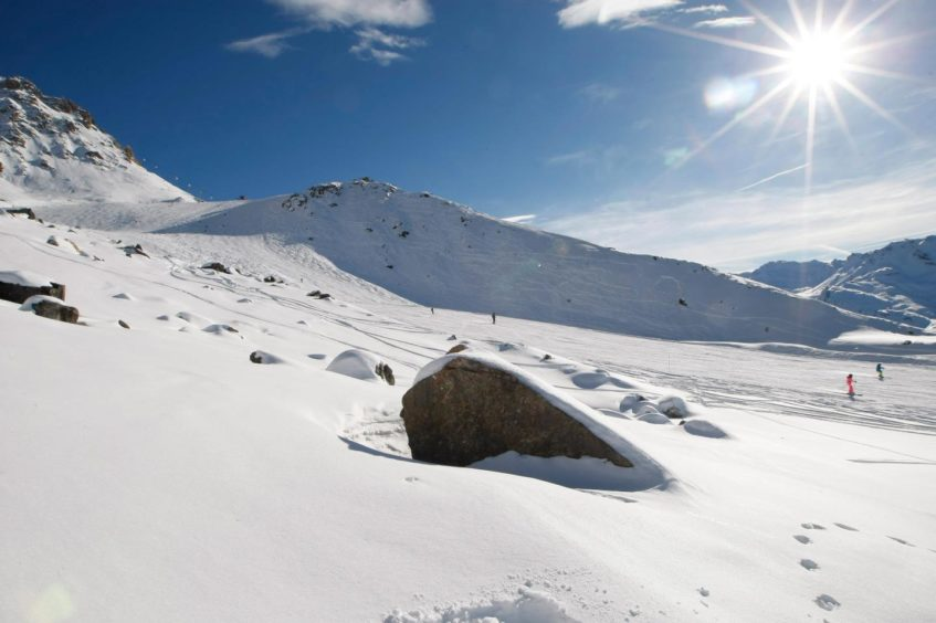 The French Alps ski resort of Meribel, and the rocks between the slopes where Schumacher injured his head.